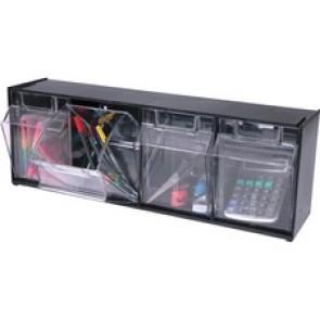 Deflecto Tilt Bin Interlocking Multi-Bin Storage Organizer