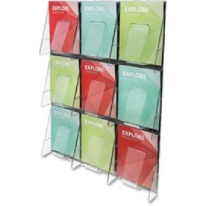 deflecto  9-Pocket Wall Mount Literature Racks