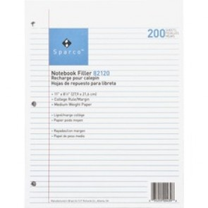 Sparco Notebook Filler Paper - Letter