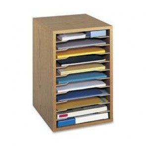 Safco Adjustable Vertical Wood Shelf Organizer