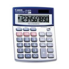 "Canon  Calculator, 10 Digit, Desktop, Lcd - Battery/Solar Powered - 4"" x 5.3"" x 1.2"""