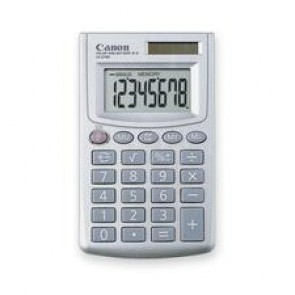 "Canon  Calculator, 8 Digit(S)  - Lcd - Battery/Solar Powered, Extra Large Display, 2.3"" x 3.8"" x 0.3"""