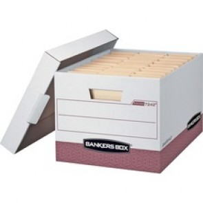 Bankers Box R-Kive - Letter/Legal, White/Red