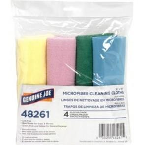 Genuine Joe Color-coded Microfiber Cleaning Cloths