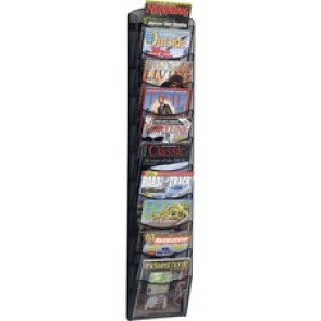 Safco 10-pocket Onyx Mesh Literature Rack