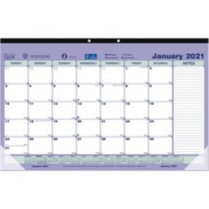 Brownline Monthly Compact Desk Pad/Wall Calendar