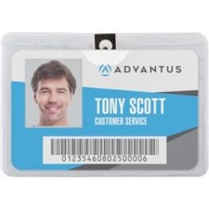 Advantus Horizontal Badge Holder with Clip