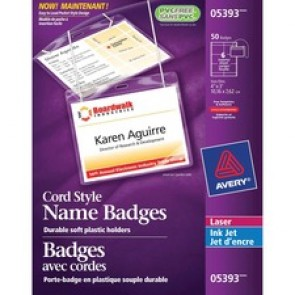 Avery 5393 Laser/Inkjet Badge Insert