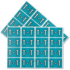 "Pendaflex  Vertical Coded Labels, ""T"", Light Blue"
