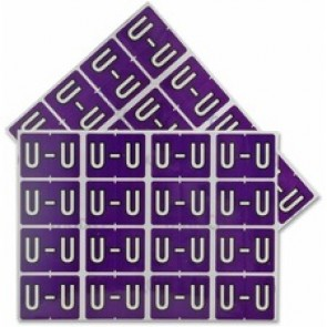 "Pendaflex  Vertical Coded Labels, ""U"", Purple"