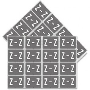 "Pendaflex  Vertical Coded Labels, ""Z"", Grey/White"