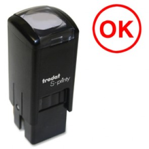 "Trodat Self Inking Stamp, ""Ok"", Small, Red"