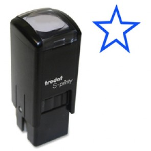 "Trodat Self-Inking Stamps, ""STAR"" Small, Blue"