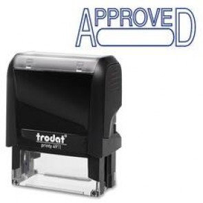"""Trodat Standard Size S-Printy Self Inking Stamp, """"ApProved"""", Blue"""