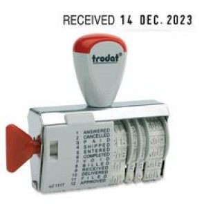 Trodat Dial-A-Phrase Dater Stamp