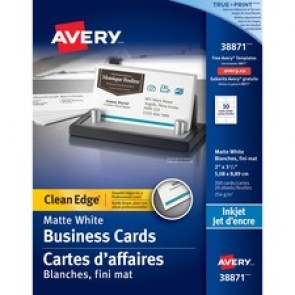 Avery 38871 Clean Edge Business Card