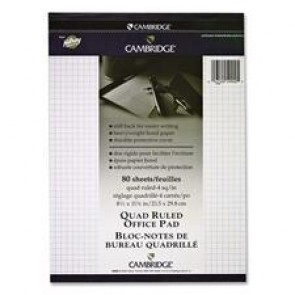 Hilroy Cambridge Quad Ruled Office Pad