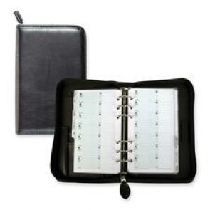"day-Timer Starter Set Planner, Bilingual, 6-Hole Punched, Portable, 6-3/4"" x 3-3/4"", Black"