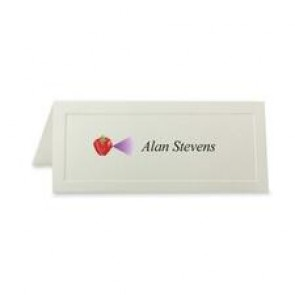 First Base Overtures Embossed Traditional Place Card