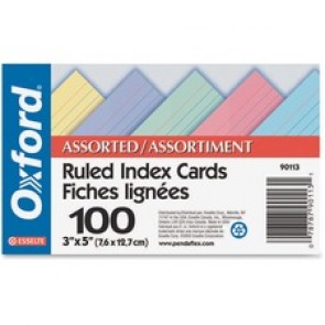Oxford Ruled Index Card