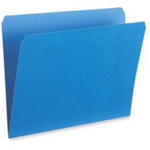 Pendaflex  File Folders, Single Top, Vertical, Letter Sheet Size, Straight Cut, Blue
