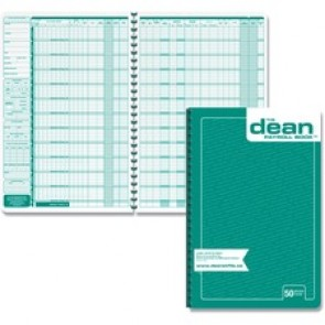 Dean & Fils Fifty Employees Payroll Book