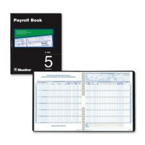 Blueline Five Employees Payroll Book
