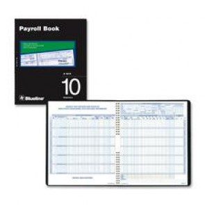 Blueline Ten Employees Payroll Book