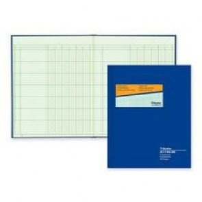 "Blueline Columnar Book, ""6 Column"", 12-1/4"" x 9-7/8"""