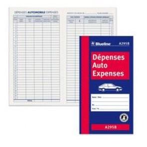 Blueline Bilingual Auto Expense Log Book