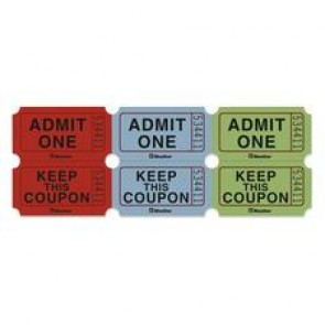 Blueline  Admit One Ticket with Attached Coupons