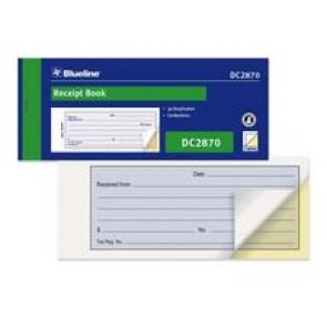 """Blueline Receipt Forms Books, Carbonless, 1 Up, 2 Part, 2-3/4"""" x 6-3/4"""""""
