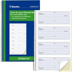 Blueline Receipt Book