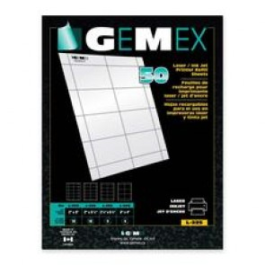 Gemex Name Badge Refill Sheets
