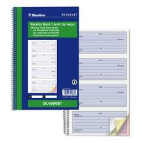 Blueline NCR Receipt Book