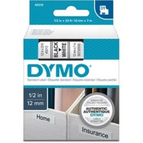 Dymo Labels - Self-Adhesive Labels - Black On White - Roll  (0.47 In x 23 Ft)