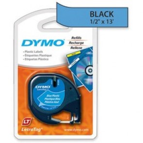 Dymo 1/2 Inch  (12 mm)  Plastic LetraTag Tape