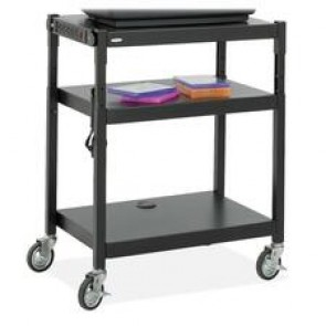 Safco Adjustable Height A/V Cart