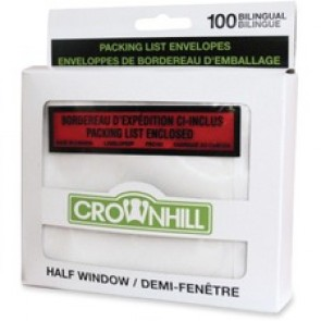 Crownhill Backloading Poly Packing List Envelope