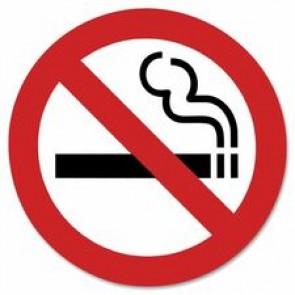 "Headline No Smoking Sign, Self-Adhesive, 3"" x 3"""