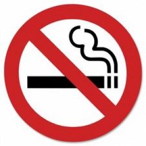 "Headline No Smoking Sign, Self-Adhesive, 9"" x 9"""
