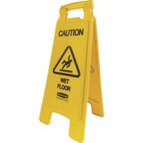 Rubbermaid Commercial Caution Wet Floor Safety Sign