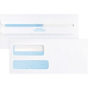 Business Source No. 9 Double Window Invoice Envelopes