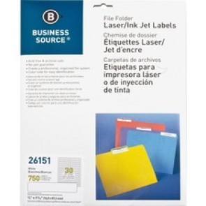 Business Source  Laser/Inkjet Permanent File Folder Labels