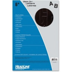 Headline  Black Vinyl Stick-on Letters