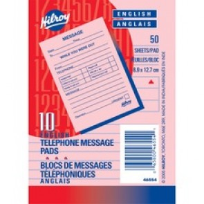 MeadWestvaco 46554 Telephone/Message Pad