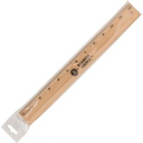 "Business Source 12"" Imperial Wood Ruler"