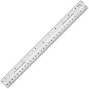 "Business Source 12"" Plastic Ruler"