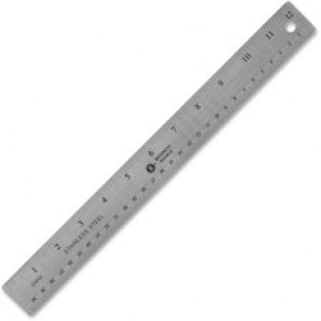 Business Source  Nonskid Stainless Steel Ruler