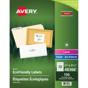 Avery&reg  Eco-Friendly File Folder Label
